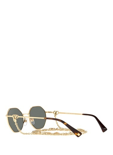 Valentino Valentino Octagonal Metal Kadın Güneş Gözlüğü 101607655 Renkli